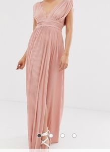 Asos deep V long dress /tall